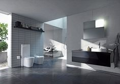 The Starck 1 series by Duravit contains a product range of modern classics. Fine design and timeless elegance - designed by Philippe Starck. Contemporary Bathroom Designs, Bathroom Design Luxury, Bathroom Design Small, Bath Design, Luxury Bathrooms, Modern Bathrooms, Design Shop, Design Design, Modern Design