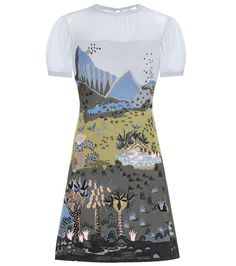 Valentino Printed Dress In Multicoloured Casual Day Dresses, Simple Dresses, Short Dresses, Blue Dresses, Pretty Outfits, Pretty Dresses, Beautiful Dresses, Stage Outfits, Fashion Outfits