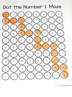 Dot the Number Mazes 1-9. Develop critical thinking skills while learning number identification!