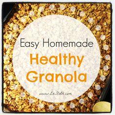 Easy Homemade Healthy Granola