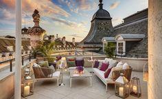Elegant Roof Terrace at the Hotel Café Royal