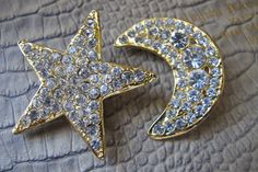 80's Rhinestone Earrings Over the Top Party by MaisonettedeMadness