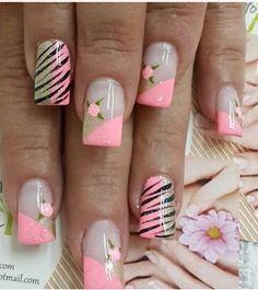 Nails Cancer Nails, Natural Acrylic Nails, Diy Nail Designs, Nails At Home, Diy Nails, Hair Beauty, Nail Art, Prints, Ideas
