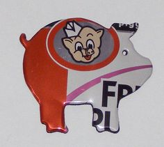 Pig Magnet - 'Fruit'' Piggly Wiggly Soda Can by SodaCanBuddies on Etsy