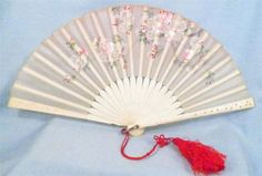 Hand painted Silk Cherry Blossom Fan