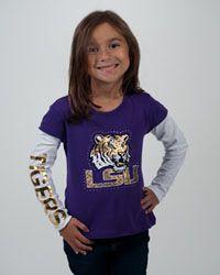 """LSU Youth girls fashion - Campus Cutee """"Emma"""" $27.95"""