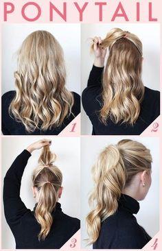 ポニーテールを2段にするだけでボリュームあるポニーテールに! ゴージャスで1段の時より髪も長く見えます。