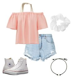 *17 by kkayyllee on Polyvore featuring polyvore, fashion, style, Rebecca Taylor, Nobody Denim, Hollister Co., Converse and clothing