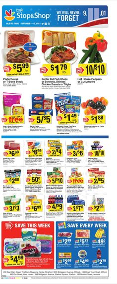Stop and Shop Circular September 9 - 15, 2016 - http://www.olcatalog.com/grocery/stop-and-shop-circular.html