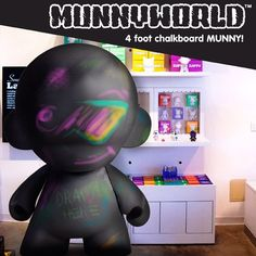 MUNNYWORLD 4FT Tall Chalkboard Munny - Order Online at Kidrobot