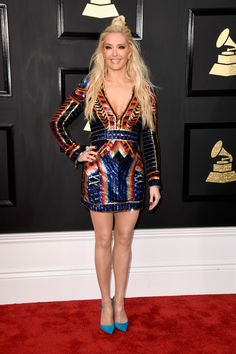 Erika Jayne from Grammys 2017 Red Carpet Arrivals Katy Perry, Rihanna, Grammys 2017, Celebrity Look, Celebrity Gossip, Celebrity News, Dreadlocks, Red Carpet Looks, Fashion Outfits