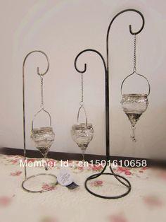 Europea- estilo adornos de jardín candelabro de vidrio farol de hierro forjado de la boda regalo de cumpleaños decoraciones para el hogar