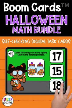 Engage your students and practice MATH SKILLS with these Halloween-themed Boom Cards! Perfect for Kindergarten, Preschool, and First Grade! They are perfect for centers, independent work time, small group instruction, and distance learning.