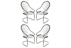 Tubular Chrome Chairs, Set of 4 on OneKingsLane.com