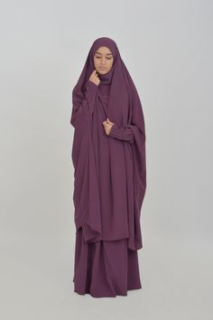 Jilbab Houda pleated sleeves