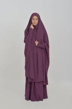 Jilbab Houda pleated sleeves