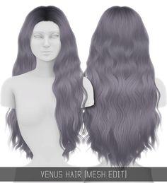 The sims 4 hairstyle – venus hair mesh edit simpliciaty sims 4 cc