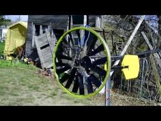 Simple home made wind turbine from bike wheel in the wind - http://www.newvistaenergy.com/wind-energy/wind-turbine/simple-home-made-wind-turbine-from-bike-wheel-in-the-wind/
