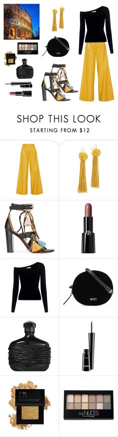 """Dinner in Rome"" by scolab ❤ liked on Polyvore featuring ADAM, Vanessa Mooney, Chloé, Giorgio Armani, A.L.C., MAC Cosmetics, Forever 21 and Maybelline"