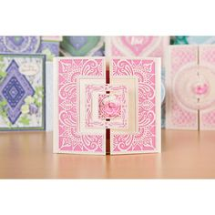 Tattered Lace Paisley Parade Collection No Colour Tattered Lace Cards, Shaped Cards, Tatting, Card Ideas, Paisley, Projects To Try, Art Deco, Scrapbooking, Paper Crafts