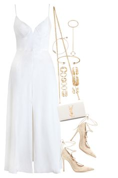 """Untitled #1098"" by oh-its-anna ❤ liked on Polyvore featuring Gianvito Rossi, Forever 21, Jeweliq, Chloé, Monica Vinader and Yves Saint Laurent"