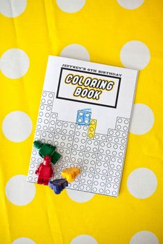 Lego colouring book and little lego crayons