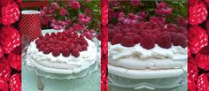 PAVLOVA WITH RASPBERRIES & WHIPPED CREAM recipe in English on http://foodlovestories.com/