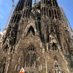 #ThrowbackThursday to #BarryCode's trip to #Barcelona, Spain! 🇪🇸 Barry loves discovering new cultural landmarks; here, he is paying a visit to the Basicilia of the #SagradaFamília. This church was erected in 1882 by architect Atoni #Gaudí. It is still being constructed to this day, and is estimated to be completed in 2026. Hasta luego! #Travel #Adventure #Explore #AdventuresOfBarryCode #SupplyChainGeek Supply Chain, Gaudi, Burj Khalifa, Brooklyn Bridge, Mount Rushmore, Construction, Explore, Adventure, Mountains