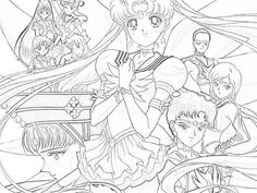 Znalezione obrazy dla zapytania sailor moon coloring pages printable Online Coloring Pages, Cool Coloring Pages, Coloring Pages To Print, Adult Coloring Pages, Sailor Moons, Galaxy Painting Diy, Sailor Moon Crafts, Sailor Moon Coloring Pages, Vintage Coloring Books
