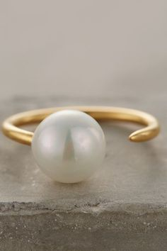 Pearl Midi Ring from Anthro.