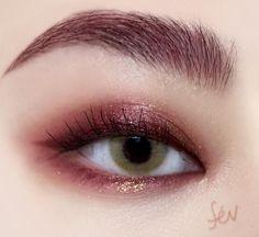 "History of eye makeup ""Eye care"", put simply, ""eye make-up"" is definitely a field where Peach Makeup, Pink Eye Makeup, Makeup Eye Looks, Eye Makeup Art, Cute Makeup, Girls Makeup, Eyeshadow Makeup, Makeup Eyes, Makeup 101"