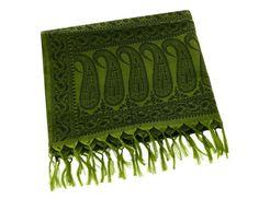 Women's silk scarf vintage - Lightweight Fashion Accessory Green & Black Paisley ShalinIndia http://www.amazon.com/dp/B00ELCAMAG/ref=cm_sw_r_pi_dp_1KFQvb1MPN4BH
