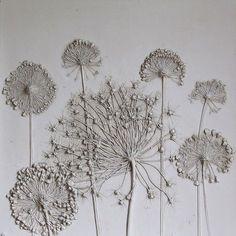 Des Fleurs fossilisées dans du Plâtre par Tactile Studio (9)