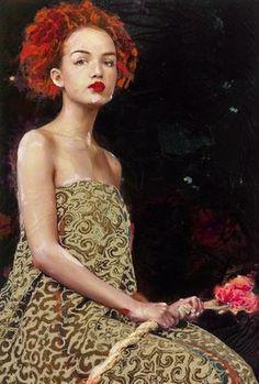 -Lita Cabellut-  'color of dew'