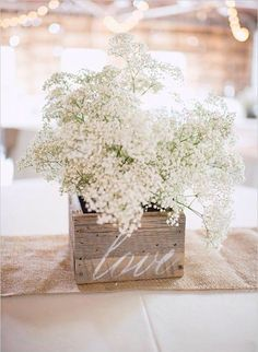 Box, Love, White Gorgeous Flowers Also For Vintage & Beach Wedding