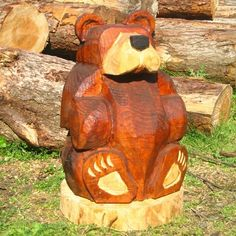 This adorable carved bear would make a unique and eccentric addition to any back garden. Bella may be small, but she's a loyal and vigilant guard who will keep your home safe from intruders and brighten up your garden while she's at it!