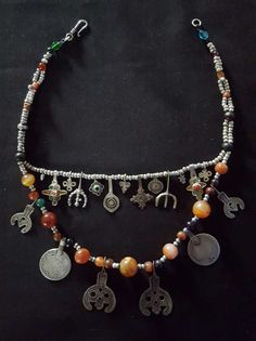 Morocco  Beautiful silver necklace made with carnelian