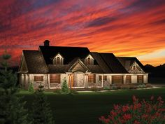 Ranch House Plan with 2016 Square Feet and 3 Bedrooms from Dream Home Source | House Plan Code DHSW076027