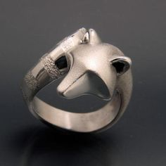 Raccoon Ring in Sterling Silver. Notoriously clever with their hands that are just like ours that they use to open just about anything they come across. Silver Rings Handmade, Sterling Silver Necklaces, Silver Jewelry, Jewelry Shop, Jewelry Design, Silver Ring Designs, Chains For Men, Swarovski Jewelry, Animal Jewelry