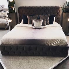 Just picked up something rather fabulous on today's buying trip. Stock due in September  #homeinspo #luxuryhomes #bedroomgoals #bedroomdecor #upholsteredbed
