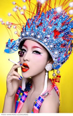 Costume & makeup inspire by the Chinese Opera