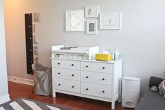 Build onto dresser for changing pad.