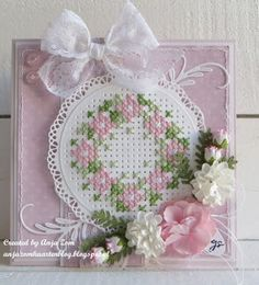 Anja Zom kaartenblog Stitching On Paper, Cross Stitching, Cross Stitch Embroidery, Cross Stitch Patterns, Embroidery Cards, Hand Embroidery Videos, Stitch Magazine, Cross Stitch Cards, Marianne Design