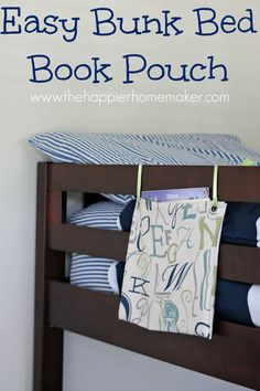 Boys don't have bunk beds but I seriously should have this for their beds. I always hear the books fall off at night