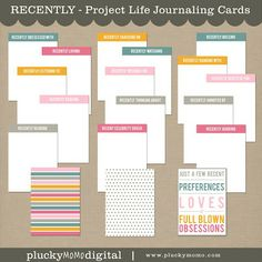RECENTLY mini kit for scrapbooking or Project Life by Plucky Momo Digital.