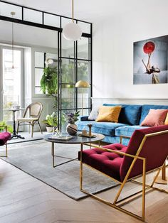 Home Interior Living Room Stylish apartment of a musician in Madrid Eclectic Living Room, Chic Living Room, Eclectic Decor, Home Living Room, Living Room Designs, Living Room Decor, Bedroom Decor, Eclectic Kitchen, Eclectic Design