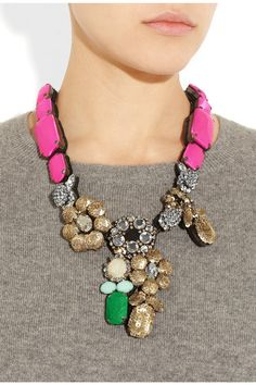 Shourouk pink miami necklace...