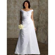 i love the off-the-shoulder strap idea so elegant for a Catholic church wedding