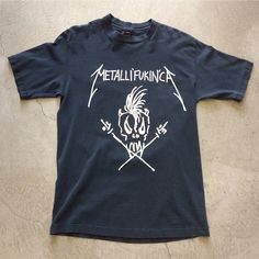 """94' Metallifukinca Tour T-Shirt $175+$8(shipping) domestic. Size Large (30.5""""x20.5""""). Contact the shop at 415-796-2398 to purchase by phone or PayPal afterlifeboutique@gmail and reference item in post."""