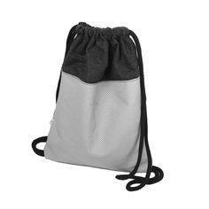 PLECAK SKÓRZANY 04 szara skóra naturalna, wymiary: 32 x 39 cm, część materiałowa z wełny parzonej, gruby sznurek jako ściągacz i rączki #plecak #worek #backpack